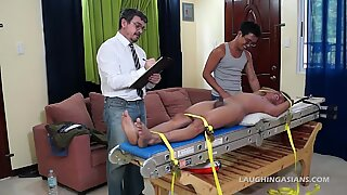 Asian Boy Alex Bound and Tickled