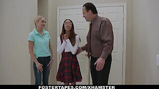 Asian Teen Fucked By Foster Parents