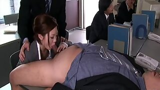 Careerist Iroha Kawashima is ready to please dicks for a better position