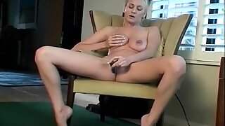 Jiggly Tits Blonde Masturbation from her Expensive Toy