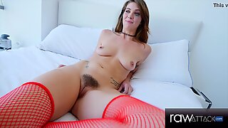 Hairy Pussy Babe With Juice Bubble Butt In Hardcore POV