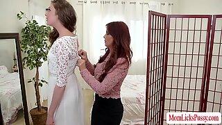 Hot lesbian sex before the wedding