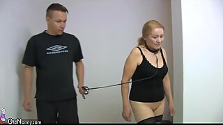 Old granny slave is whipped - BDSM scene