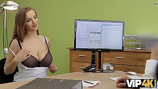 VIP4K. Red-haired Suzie Sun gets owned in doggystyle