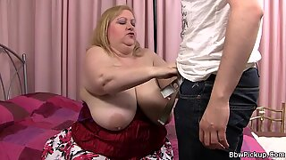 big-titted plumper gf gives head and rails his dick