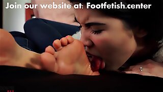 Asian Foot Licking Worship