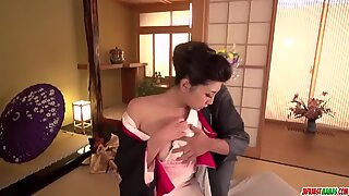 Yuna Shiratori strips for the dick and fucks like a queen - More at Japanesemamas com