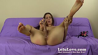 Submissive amateur girl spanks herself and dildo fuck