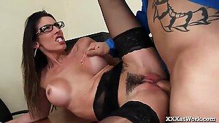 Slutty Secretary Fucks Her Boss To Keep Her Job!