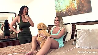 Britney & Alison get off with a vibrating teddy bear