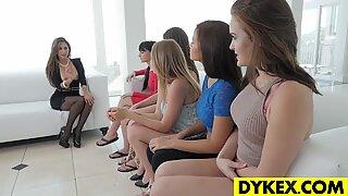 Amazing lesbian orgy with beautiful girls