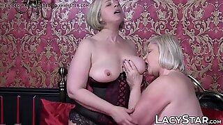 Hardcore pussy licking session with British mature babes