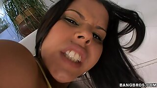 Beauty is delighting fellow with blowjob