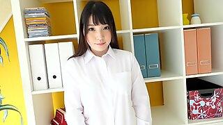Japanese Girl Mahiro Shows Her Yellow Panties