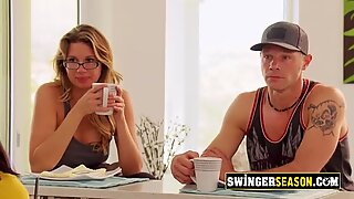Group of swingers make their sexiest fantasies a reality in an open swing house.