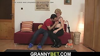 Small tits blonde mature picked up for play