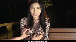 Brunette Sofia Takigawa wants her Boobs Creamed - more at Japanesemamas com