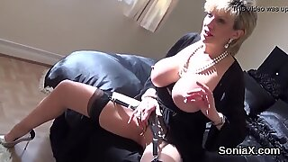 Adulterous english milf lady sonia shows her massive naturals