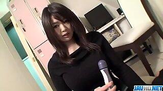 Busty?  Aika Sawawatari enjoys a strong pounding?