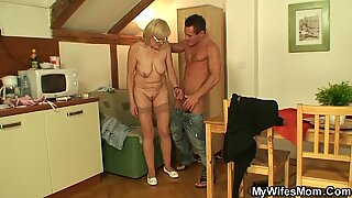 My girlfriends mom is horny old bitch!
