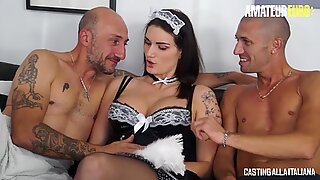 LETSDOEIT - Hot Italian Maid Gets DP In MMF Casting