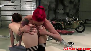 Ass gaping beauties toy with their asses